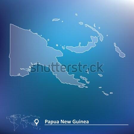 Karalama harita Papua Yeni Gine doku dizayn dünya Stok fotoğraf © ojal