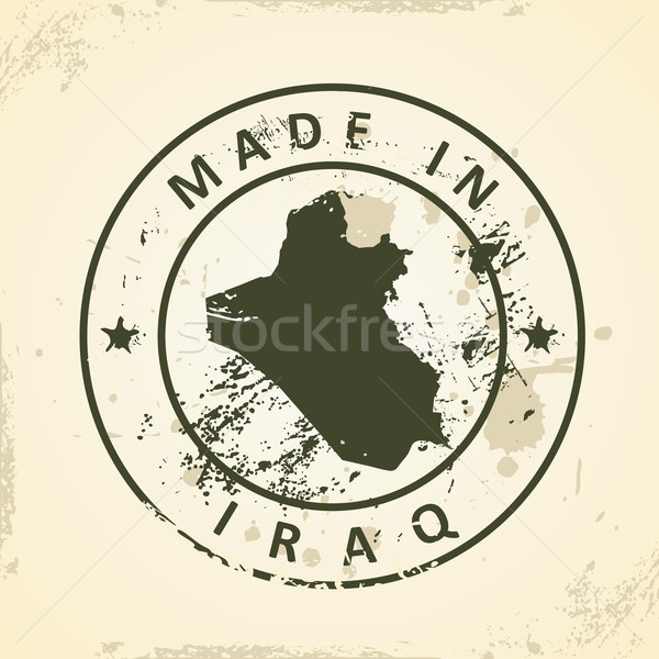 Stamp with map of Iraq Stock photo © ojal