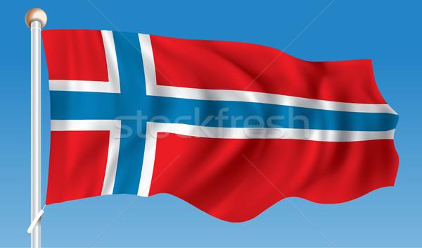 флаг Норвегия аннотация Мир красный силуэта Сток-фото © ojal