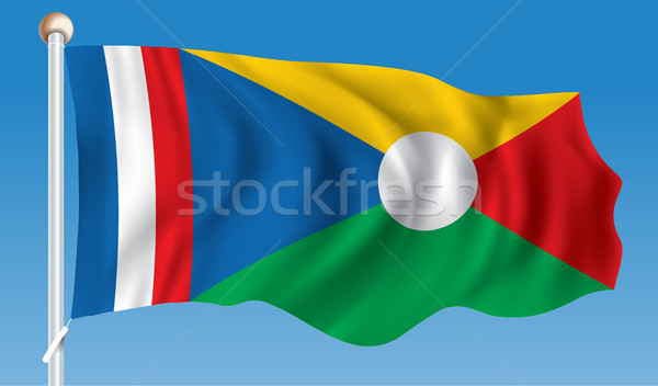 Flag of Reunion Stock photo © ojal