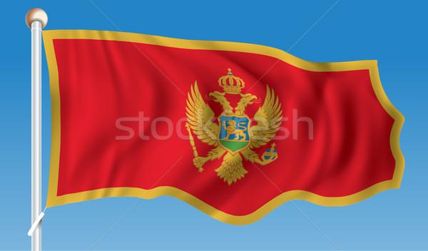 フラグ モンテネグロ 手 壁 世界 赤 ストックフォト © ojal