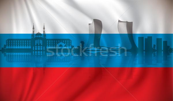 флаг Skyline здании фон красоту Церкви Сток-фото © ojal