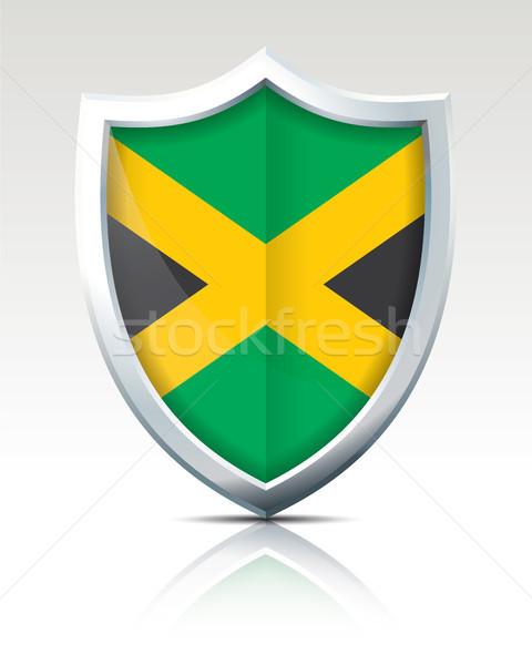 Scudo bandiera Giamaica texture mappa sfondo Foto d'archivio © ojal