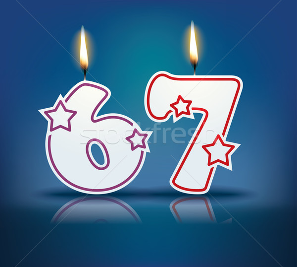 Birthday candle number 67 Stock photo © ojal