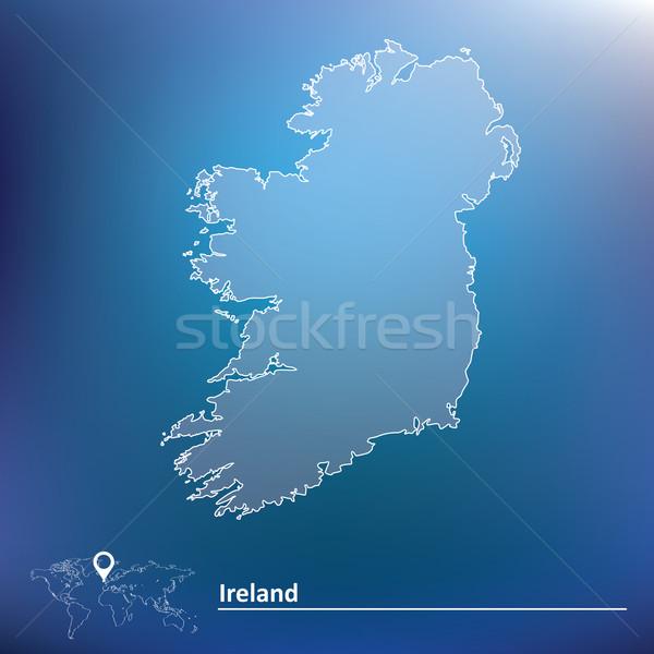 Mappa Irlanda mondo sfondo segno viaggio Foto d'archivio © ojal