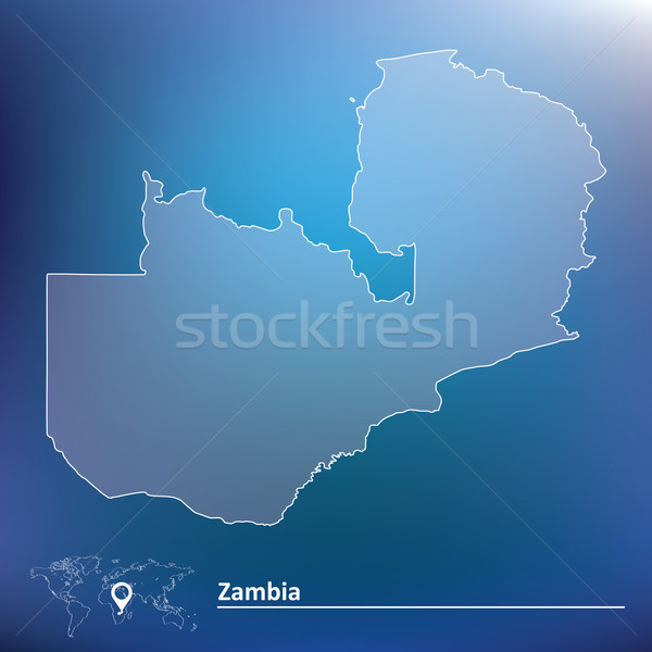 Map of Zambia Stock photo © ojal