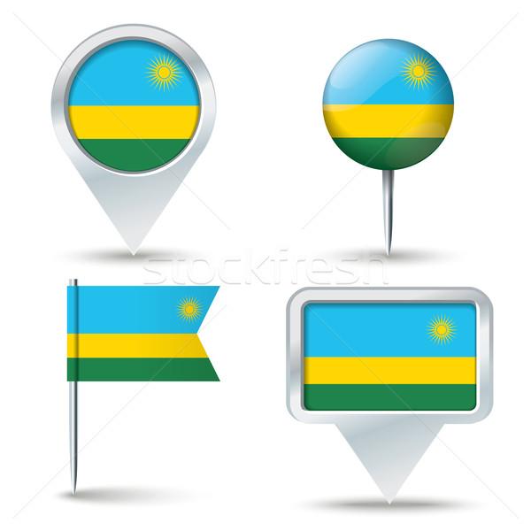 Carte pavillon Rwanda affaires route blanche Photo stock © ojal