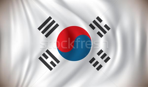 флаг Южная Корея текстуры фон искусства синий Сток-фото © ojal