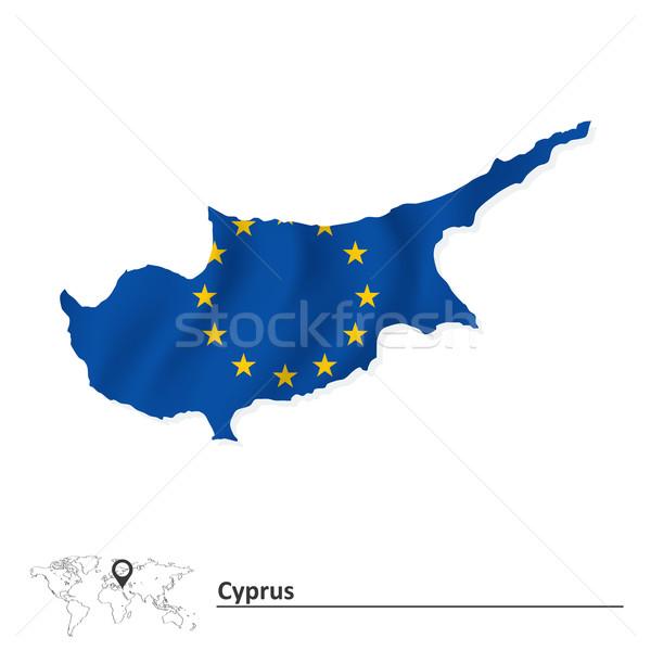 Pokaż Cypr europejski Unii banderą projektu Zdjęcia stock © ojal