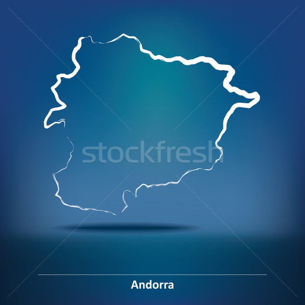 Doodle Map of Andorra Stock photo © ojal