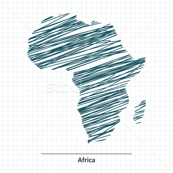 Doodle sketch of Africa map Stock photo © ojal