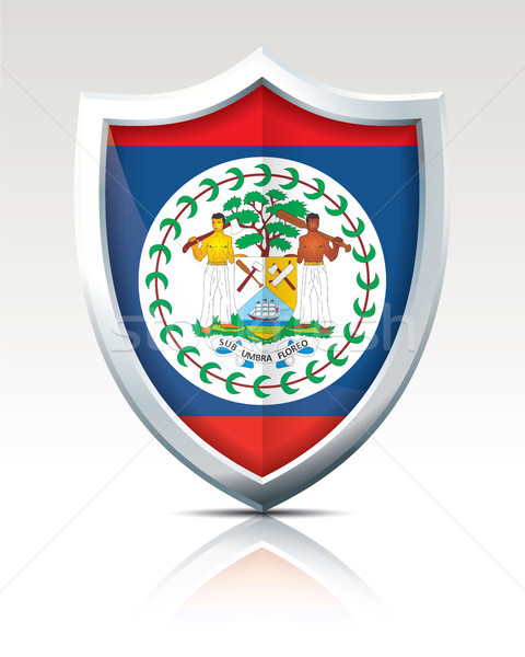 Shield with Flag of Belize Stock photo © ojal