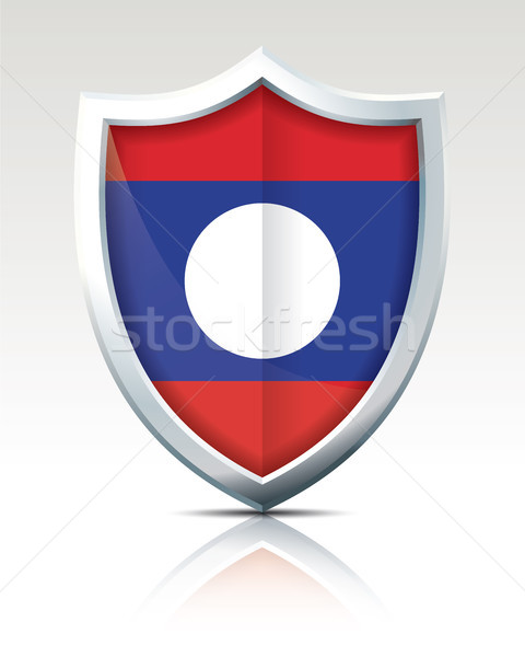 Shield with Flag of Laos Stock photo © ojal
