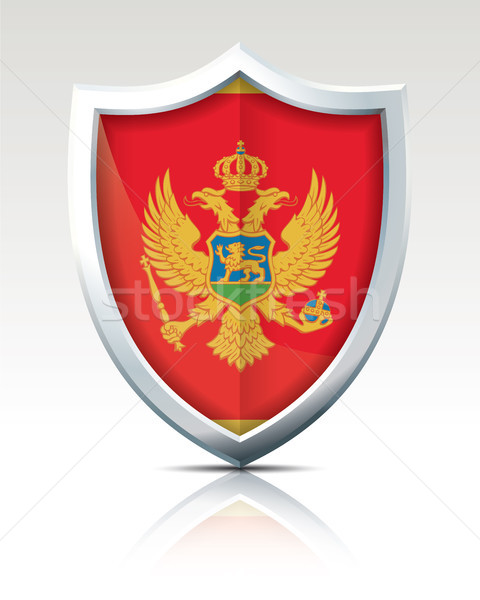 Shield with Flag of Montenegro Stock photo © ojal