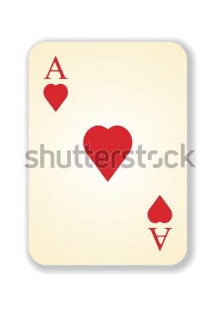 ベクトル バージョン 古い ヴィンテージ エース カード ストックフォト © ojal