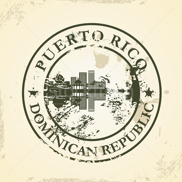 Grunge rubber stamp with Puerto Rico, Dominican Republic Stock photo © ojal