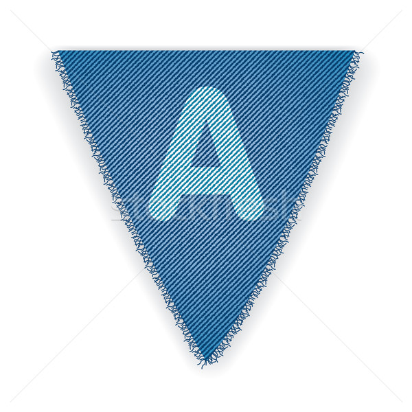 Bunting flag letter A Stock photo © ojal