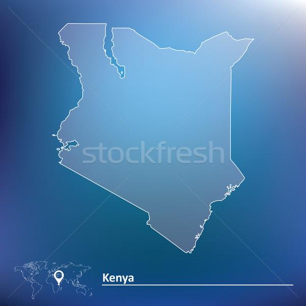Térkép Kenya textúra világ háttér felirat Stock fotó © ojal