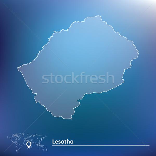 Carte Lesotho texture design signe Voyage Photo stock © ojal