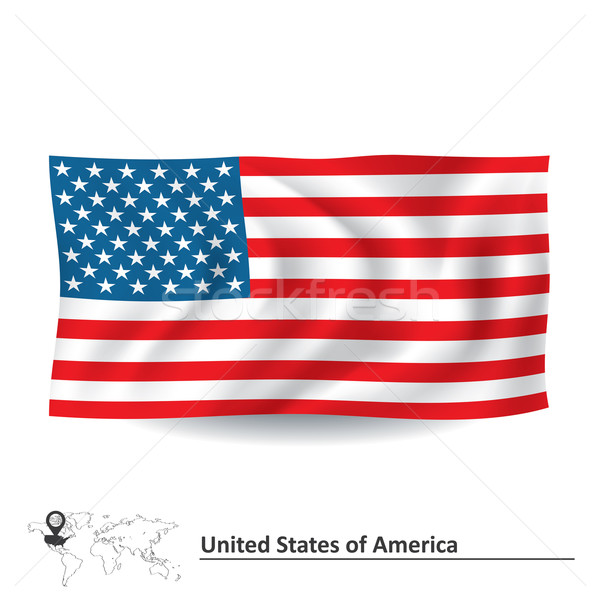 Flag of United States of America Stock photo © ojal