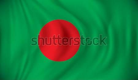 Zászló Banglades üzlet utazás sziluett szín Stock fotó © ojal