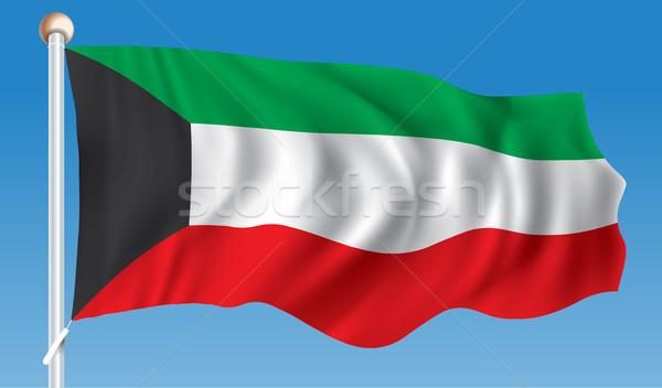 Bandeira Kuweit textura arte assinar verde Foto stock © ojal