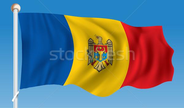 Zászló Moldova üzlet textúra térkép terv Stock fotó © ojal