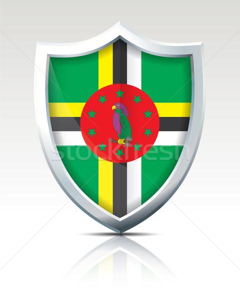 Schild vlag Dominica abstract reizen silhouet Stockfoto © ojal