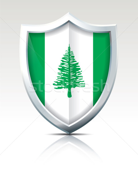 Shield with Flag of Norfolk Island Stock photo © ojal