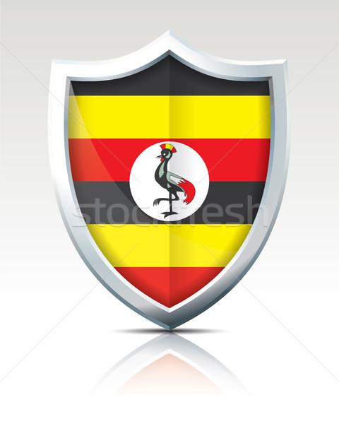 Shield with Flag of Uganda Stock photo © ojal