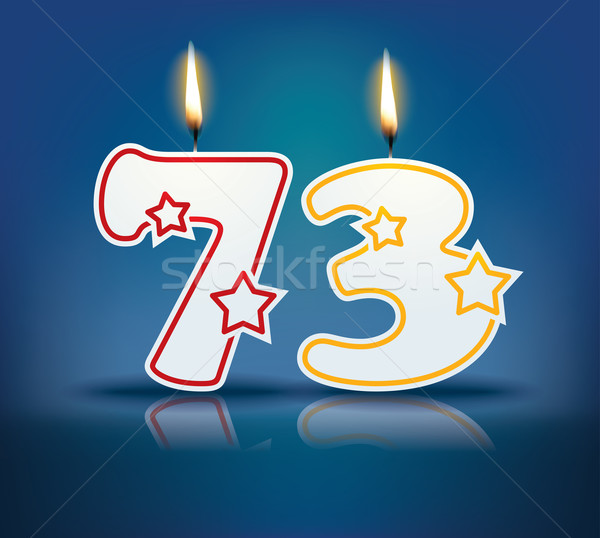 Birthday candle number 73 Stock photo © ojal