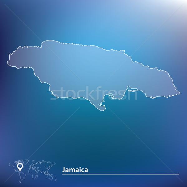 Map of Jamaica Stock photo © ojal