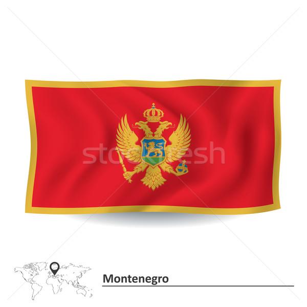 Flag of Montenegro Stock photo © ojal