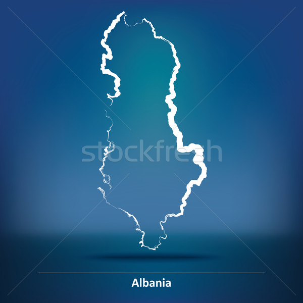 Doodle Map of Albania Stock photo © ojal
