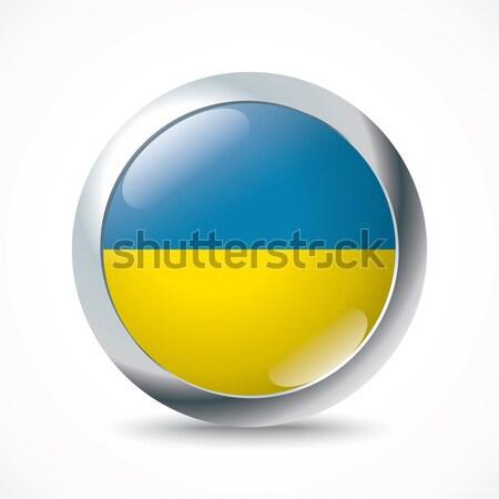 Ucrânia bandeira botão projeto fundo arte Foto stock © ojal