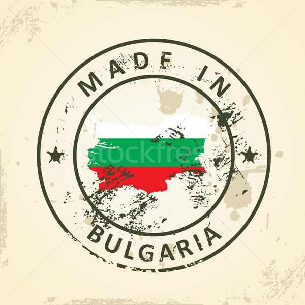 スタンプ 地図 フラグ ブルガリア グランジ 抽象的な ストックフォト © ojal