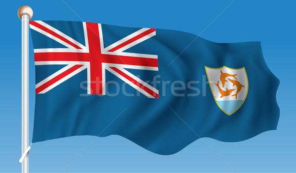 Bandeira mundo assinar viajar vermelho tropical Foto stock © ojal