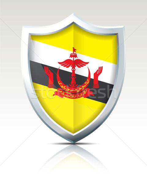 щит флаг Бруней Мир путешествия черный Сток-фото © ojal