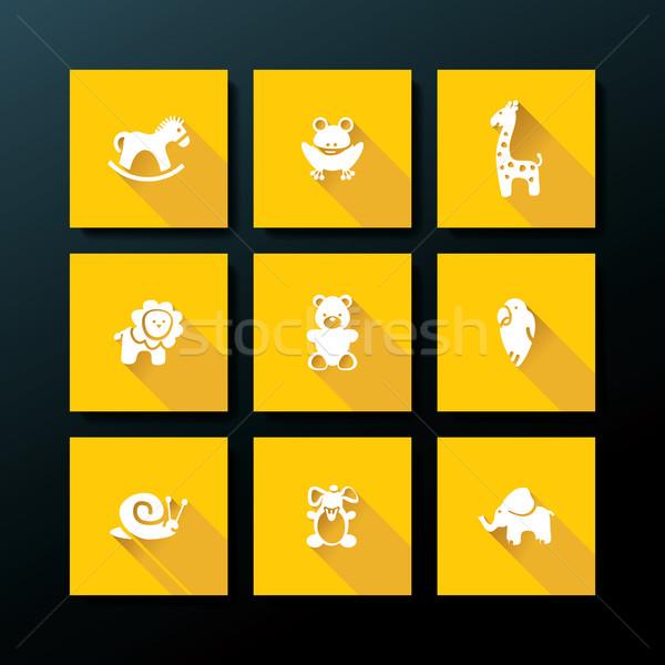 Vektor baba játék ikon gyűjtemény gyermek ló Stock fotó © ojal