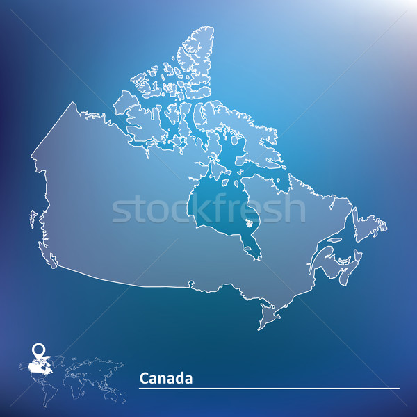 Map of Canada Stock photo © ojal