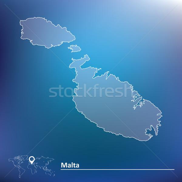 Mappa Malta texture viaggio bandiera vento Foto d'archivio © ojal
