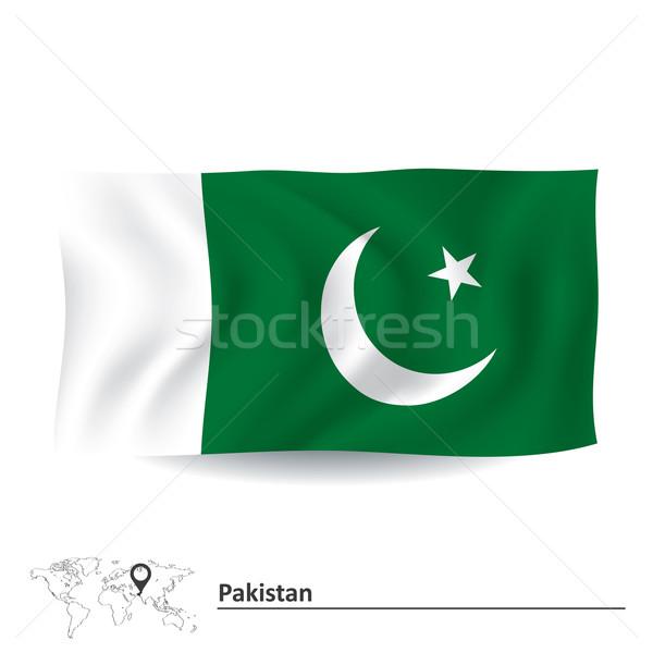 Vlag Pakistan kaart achtergrond aarde teken Stockfoto © ojal
