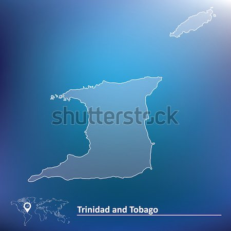 Map of Trinidad and Tobago Stock photo © ojal