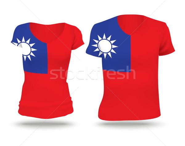 Flag shirt design of Taiwan Stock photo © ojal
