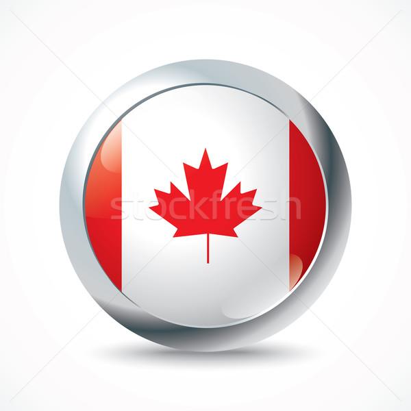 Canada flag button Stock photo © ojal