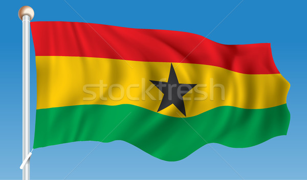 Flag of Ghana Stock photo © ojal