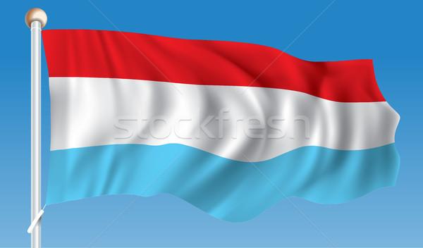 Vlag Luxemburg textuur abstract wereld Blauw Stockfoto © ojal