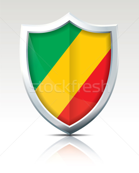 Shield with Flag of Republic of Congo Stock photo © ojal