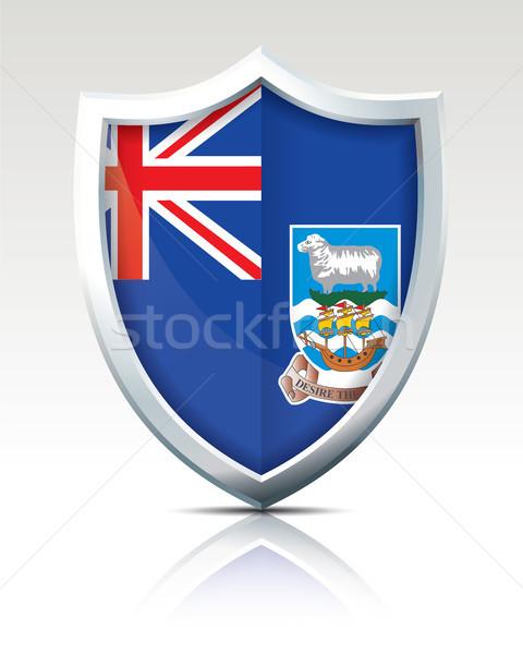 щит флаг Фолклендские острова дизайна знак силуэта Сток-фото © ojal
