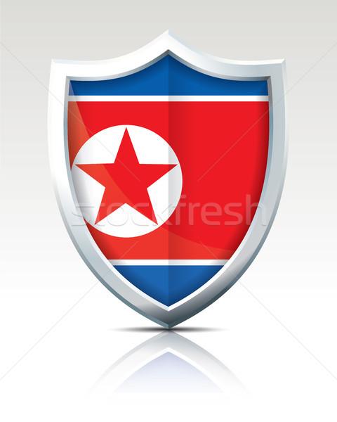Shield with Flag of North Korea Stock photo © ojal